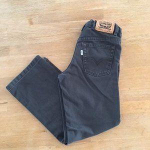 Levi's 514 Straight Black Jeans - Boys 7